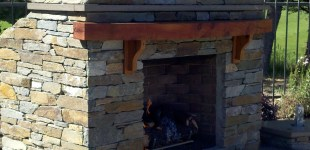 Outdoor Rock Fire Place