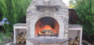 Custom Rock Fire Place