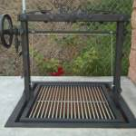 , w/ Iron Frame & Features  a steel frame with high heat paint. A stainless steel grill grate with deco iron leaves, high heat painted.