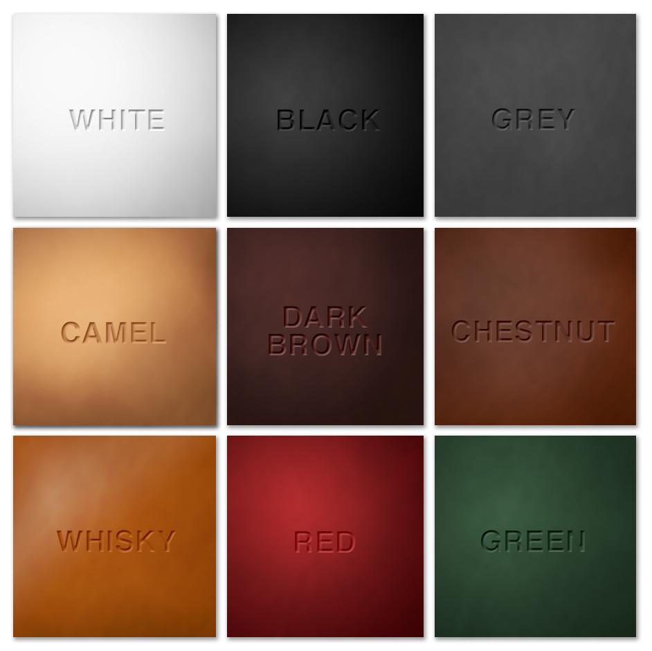 leather portfolio tanning colours