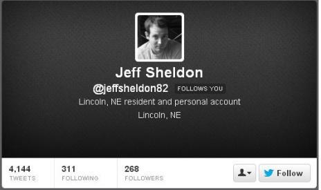 Jeff Sheldon - Twitter description - current 032313JPG