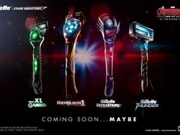 rasoirs Gillette Avengers