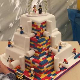 gâteau de mariage Lego