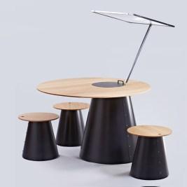 Sunplace table de cuisson conviviale solaire