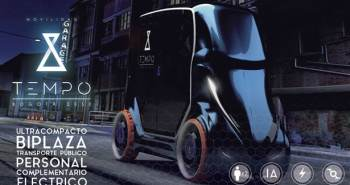 Tempo véhicule futuriste compacte