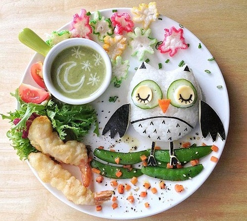 vegetables bird plate1