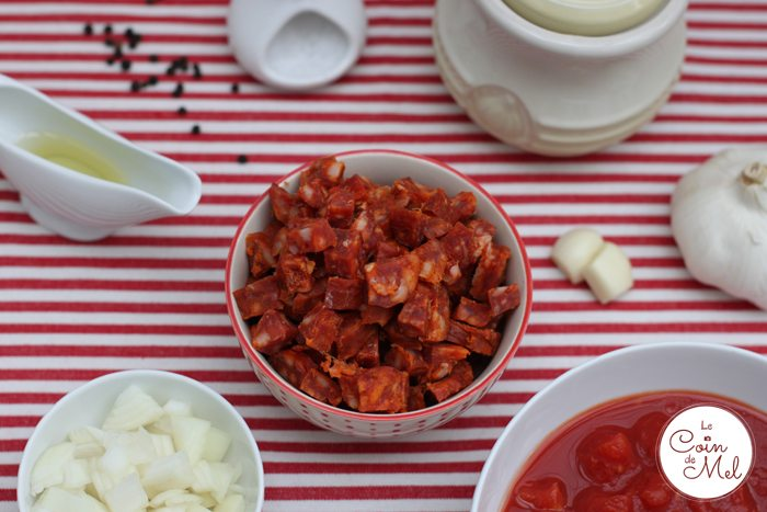 Chorizo Pasta - Ingredients