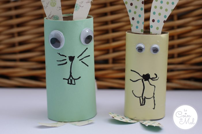 Toilet Paper Roll Bunnies - First two Bunnies