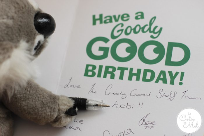 Goody Good Stuff Kobi the Koala Writing the Card