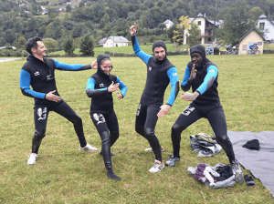 La team des Bioman en Canyoning
