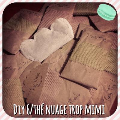 DIY pour fabriquer un sachet de thé bio et bon trop mimi, une super idée de cadeau rapide écolo et pas cher