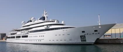 Lurssen Super Yacht Katara in Gibraltar - Photo credit to Gieye