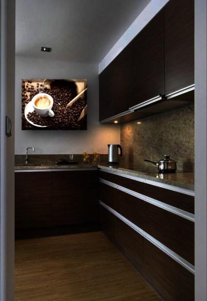 Obraz podświetlany LED - dekoracyjna lampa w kuchni