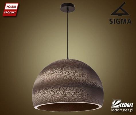 SIGMA oferuje lampy wykonane z kartonu - nietuzinkowe oświetlenie wnętrz (lampe znaleźć można na stronie https://goo.gl/Y9byJ1)
