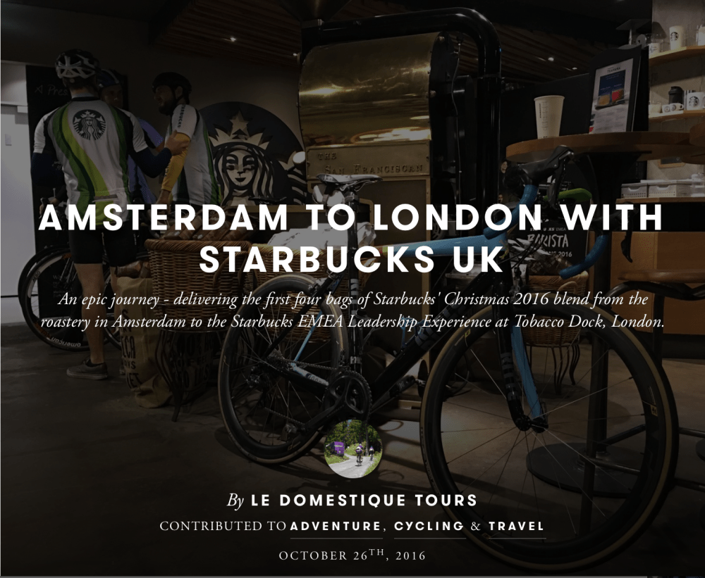 Amsterdam to London with Starbucks Corporate UK