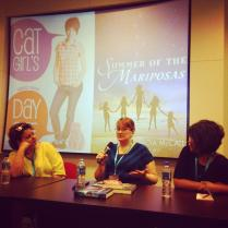 Stacy Whitman speaking on a panel at the Asian Festival of Children's Content.