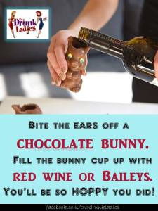 chocolate bunny wine glass
