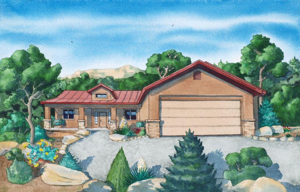 east mountain custom home in tijeras