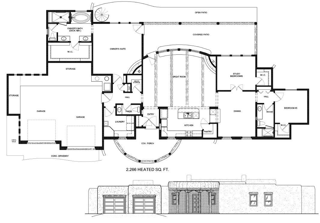 north albuquerque acres floorplan sketch