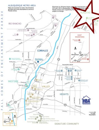 Parade of Homes New Mexico 2012 Map