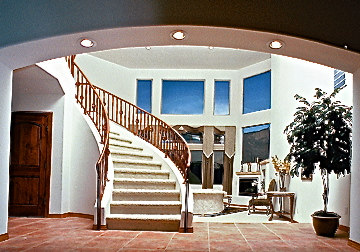 Circular staircase by Lee Michael Homes