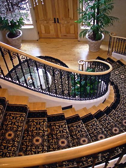 Lee Michael Homes maple wood stairs
