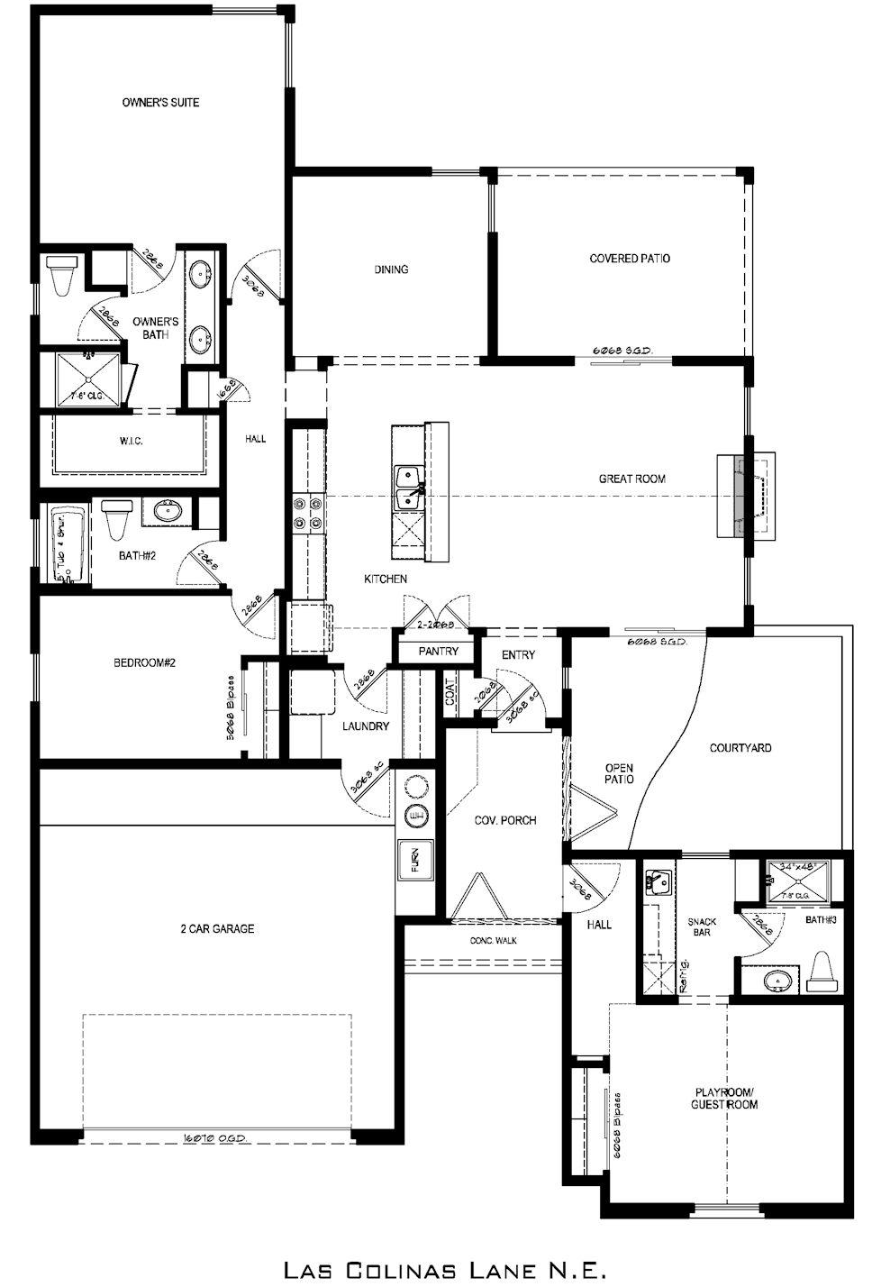 las colinas showcase home floorplan