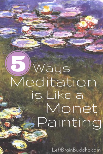 Meditation Monet Painting