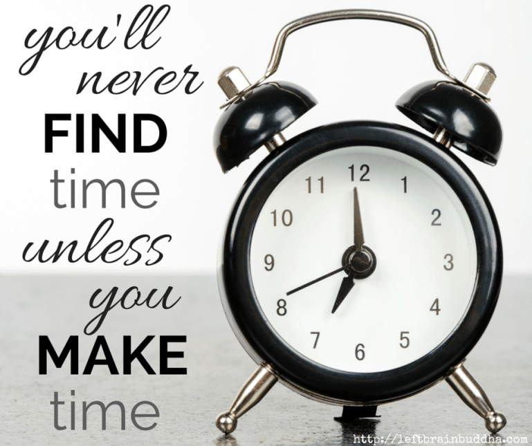 why finding time is a myth