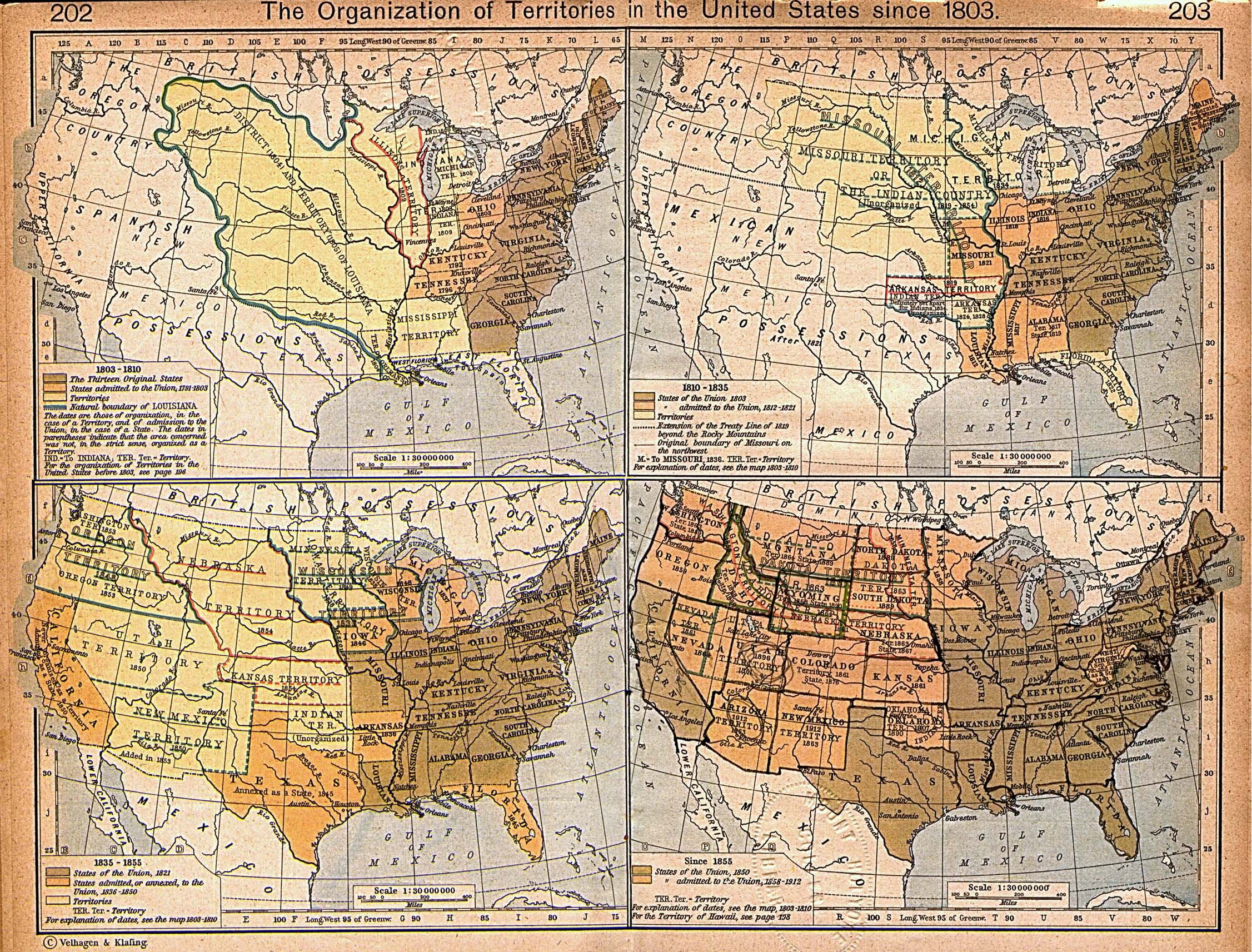 United States Historical Maps   Perry Casta    eda Map Collection   UT     The Organization of Territories in the United States since 1803