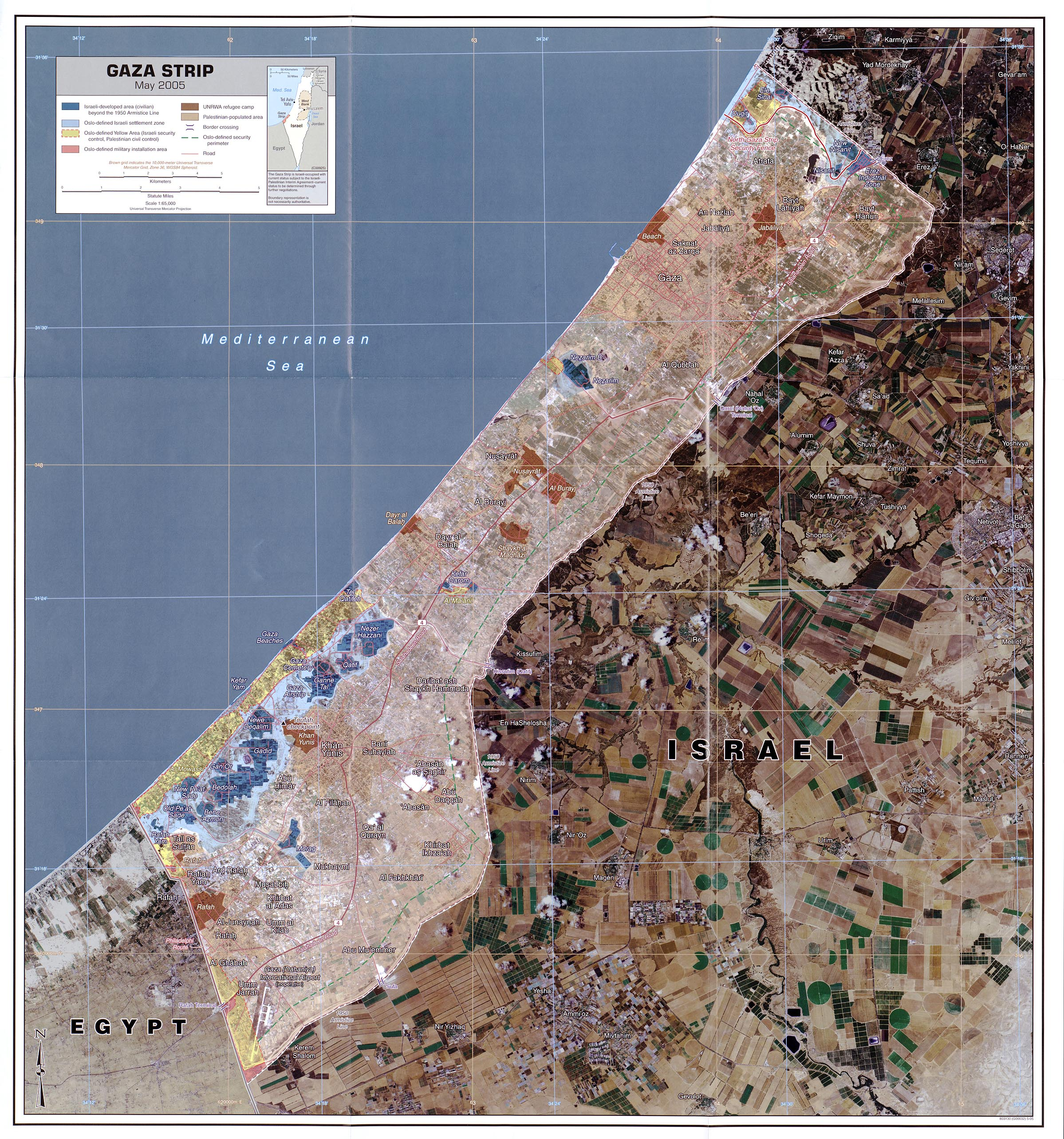 Israel Lebanon War 2006   Perry Casta    eda Map Collection   UT         Gaza Map