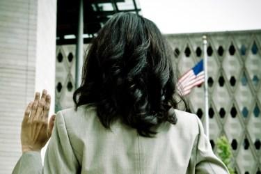 14331979-american-flag-post