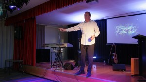 Preaching at The Rock Christian Church, Capalaba, Queensland