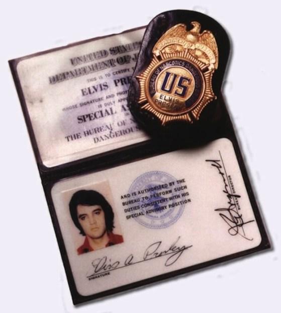 BNDD Elvis badge
