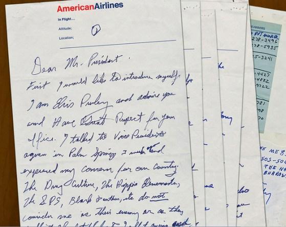 La lettera da Elvis a Nixon