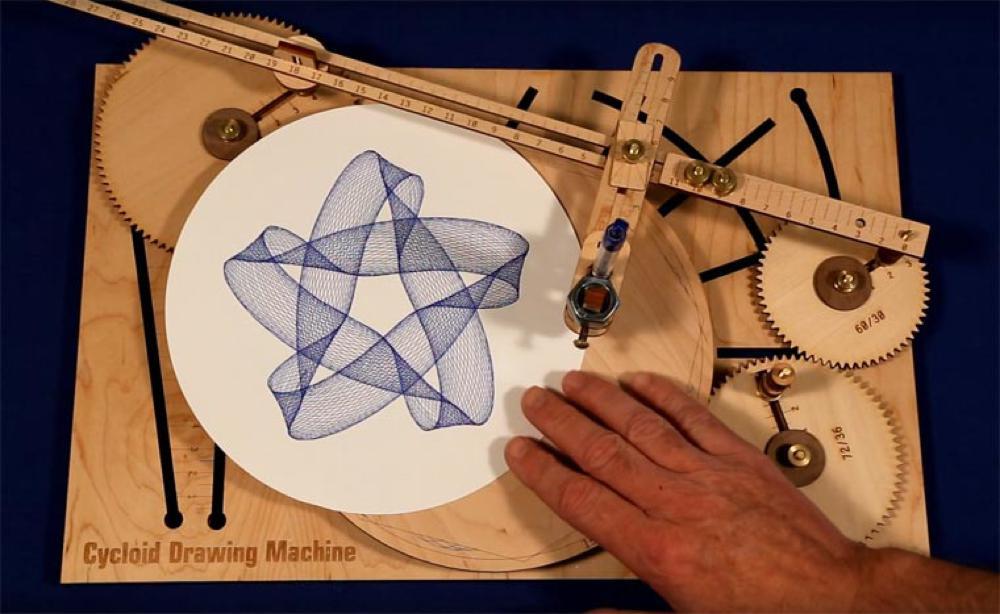 Cycloid Drawing Machine, lo spirografo dalle possibiltà ...