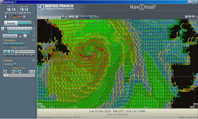 Interface de Navimail