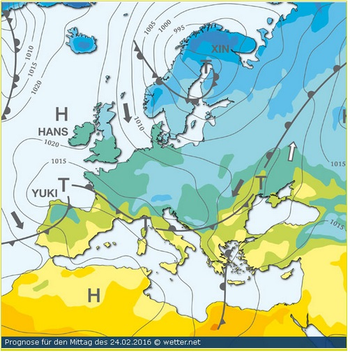 Carte Pression Wetter