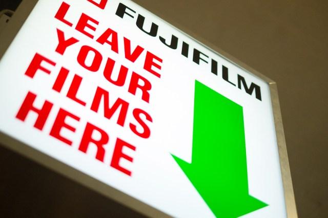 Fujifilm sign for film printing