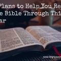 4 Bible plans