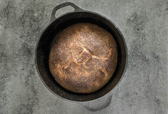 Paleo No Knead Bran Bread