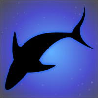 137 of 365 is a shark overhead in #inkscape #design