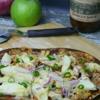 BBQ Chicken, Apple & Cheddar Pizza