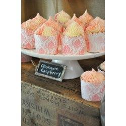 Sparkling Butter Cream Chocolate Raspberry Cupcakes A Bridal Shower Lemon Sugar Bridal Shower Food Suggestions Bridal Shower Food Signs Raspberry Filled Chocolate Cupcakes