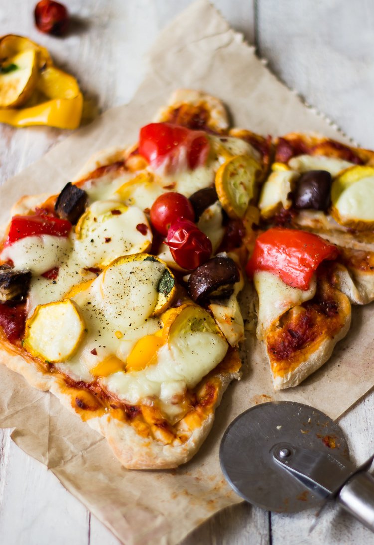 Roasted Vegetable Pizza with Par-Baked Crust
