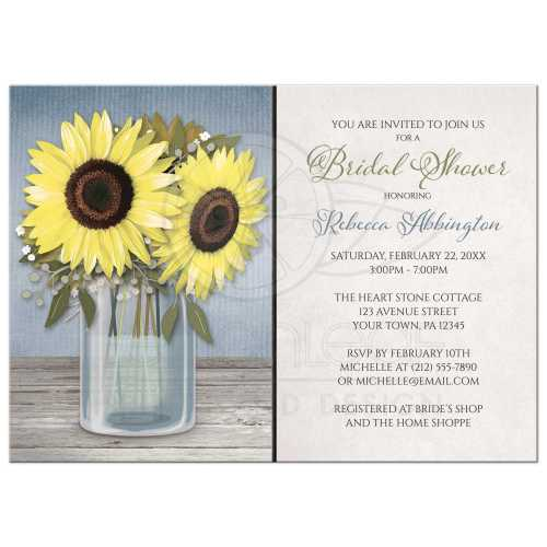 Medium Crop Of Rustic Bridal Shower Invitations