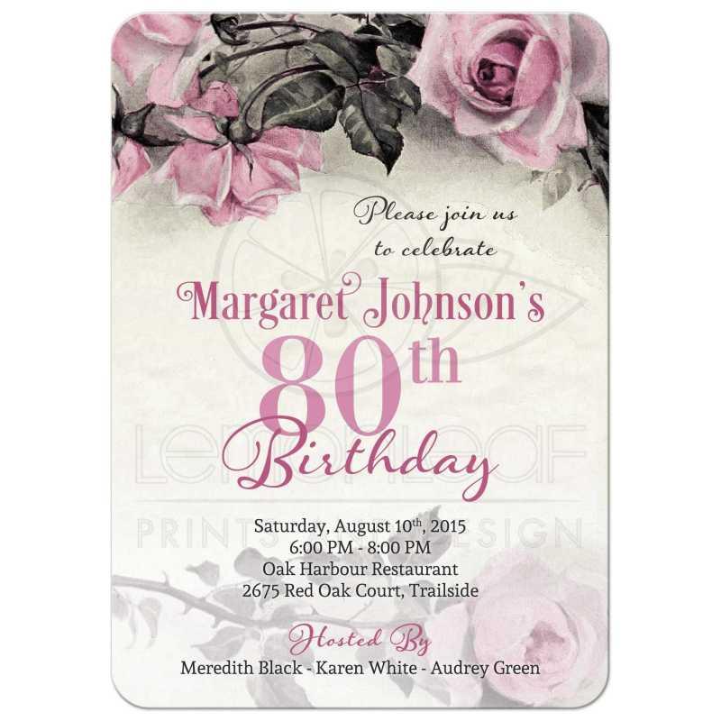 Large Of 80th Birthday Invitations