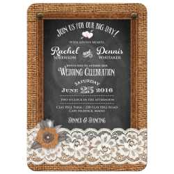 Absorbing Brown Country Chalkboard Wedding Invite A Brown Photo Wedding Invitation Burlap Chalkboard Lear Lace Country Wedding Invitations Homemade Country Wedding Invitations wedding Country Wedding Invitations