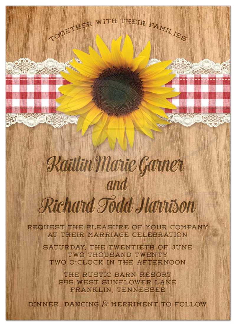 Large Of Sunflower Wedding Invitations