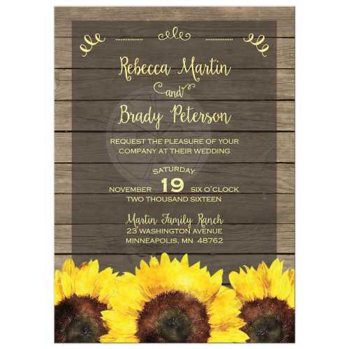 Medium Crop Of Sunflower Wedding Invitations